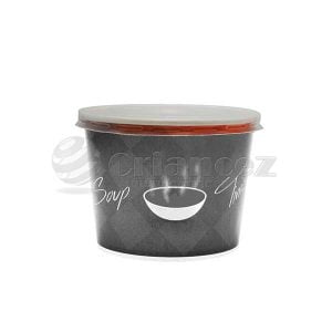 Capac plastic pentru bol supă carton 520ml, 50 buc/set